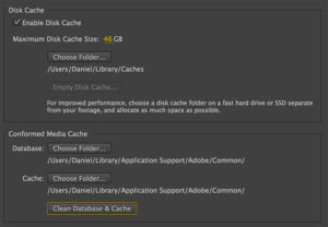 AfterEffects media cache